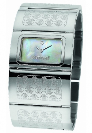 Roberto Cavalli R7253117515 Pavon Women's Mother of Pearl Stainless Steel Watch