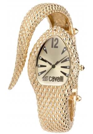 Just Cavalli Women's Poison Gold Ion-Plated Coated Stainless Steel Triangular Watch