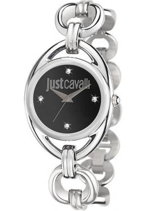 Just Cavalli Women's  Drop Stainless Steel and Swarovski Crystal Watch with Link Bracelet