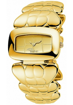 Roberto Cavalli Coco - Gold Plated Croco-style Bracelet Dress Watch