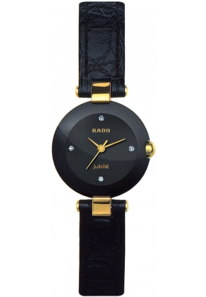 RADO Coupole Jubile Black Leather Strap R22829715  23mm