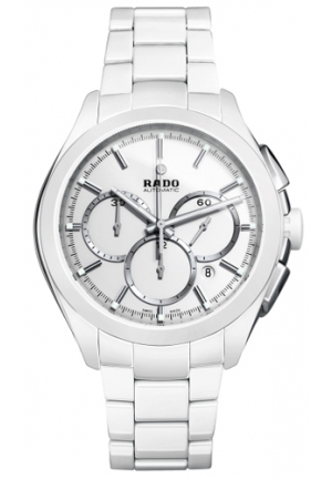 RADO Hyperchrome Automatic Chronograph White Dial White Ceramic Mens Watch R32274012 45mm