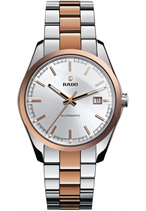 RADO Hyperchrome Automatic Silver Dial Two-Tone Ceramic Mens Watch R32980102 40mm