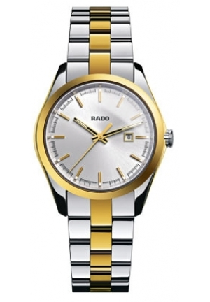 RADO Hyperchrome Silver Dial Two-Tone Ceramos and Steel Ladies Watch R32975102 37.5mm