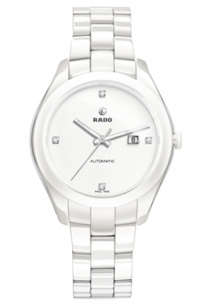RADO Hyperchrome White Dial White Ceramic Ladies Watch R32258702 36mm