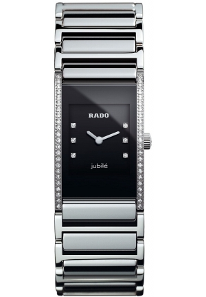 RADO Jubilé Diamond Accent (1/6 ct. t.w.) Stainless Steel Bracelet R20759752  24.8mm x 19.2mm