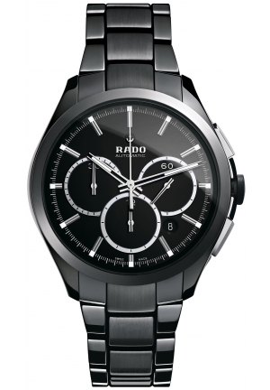 RADO Men's Swiss Automatic Black High-Tech Ceramic Bracelet SKU R32275152 45mm