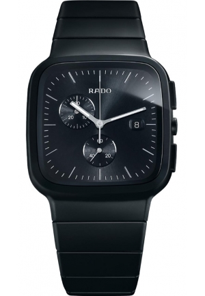 RADO R5.5 Black Dial Chronograph Ceramic Mens Watch R28886162  37.0 x 46.4 mm