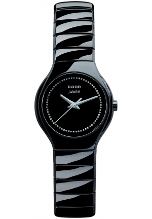 RADO Rado Watch, Women's True Jubile Black Bracelet R27655732 27mm