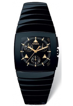 RADO Sintra Black Ceramic Chronograph Mens Watch R13477182 32 mm x 29 mm