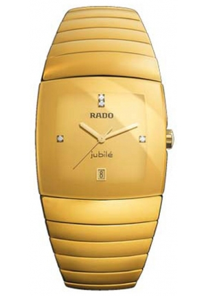 RADO Sintra Jubile Gold-Tone Ceramic Mens Watch R13773702