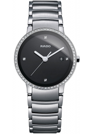 RADO Women's Swiss Diamond (1/4 ct. t.w.) Stainless Steel Bracelet R30933713 28mm