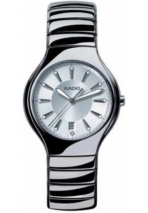 RADO Women's True Platinum Ceramic Bracelet R27654102 40mm