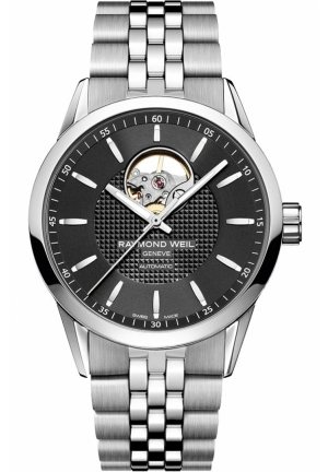 RAYMOND WEIL Freelancer Automatic Open Balance Wheel Mens Watch 42mm