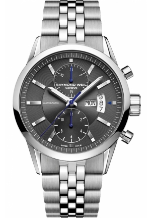 RAYMOND WEIL Freelancer Grey Chronograph Dial Watch 42mm