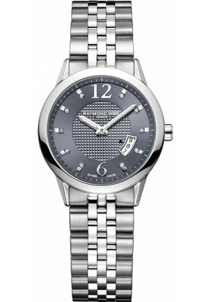 "RAYMOND WEIL ""Freelancer"" Stainless Steel Diamond-Accented Watch 29mm"