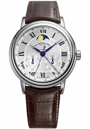 RAYMOND WEIL Maestro Automatic Moonphase Mens Watch 39.5mm