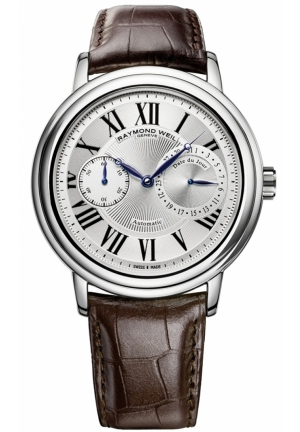 RAYMOND WEIL Maestro Silver Dial Watch 39.5mm