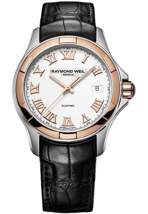 RAYMOND WEIL Parsifal Analog Display Swiss Automatic Black Watch 39mm