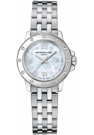 RAYMOND WEIL Tango Steel Mother-Of-Pearl Diamond Crystal Dial Watch 28mm