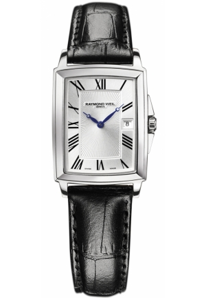 RAYMOND WEIL Tradition Silver Rectangular Dial Watch 28mm X 41mm