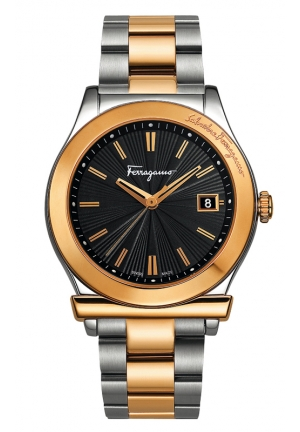 SALVATORE FERRAGAMO GOLD IP4N DIAL 33 OR 40MM ITALIAN DESIGN 40mm