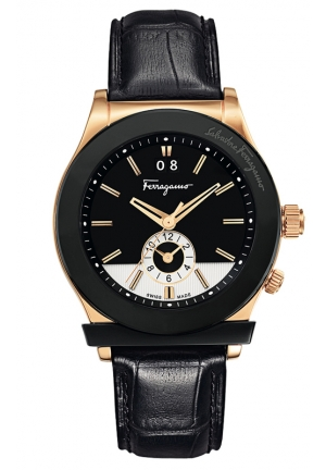 SALVATORE FERRAGAMO (Gold/Black) - Jewelry Find Best Price 40mm