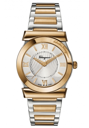 "SALVATORE FERRAGAMO Vega"" Gold Ion-Plated Watch 32mm"