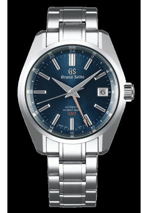 Grand Seiko Heritage Hi-Beat 36000 GMT Blue Dial SS LIMITED EDITION SBGJ235