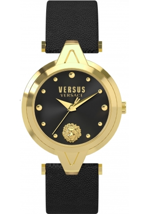 Versus by Versace Women's 'V' Quartz Stainless Steel and Leather Casual Watch