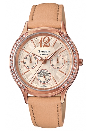 CASIO SHEEN WOMEN LEATHER WATCH 32MM