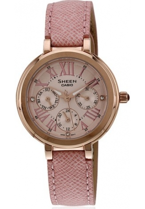 CASIO SHEEN WOMEN PINK LEATHER 32MM