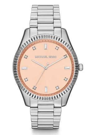 Silver Color Stainless Steel Glitz Watch 42mm