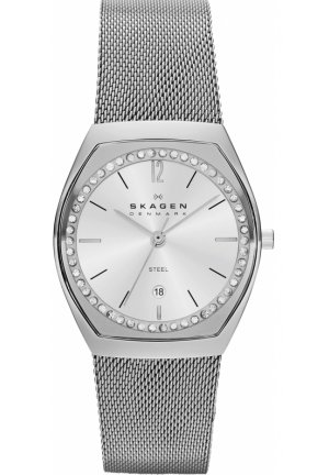 Women's Skagen Asta Date Display Mesh Watch