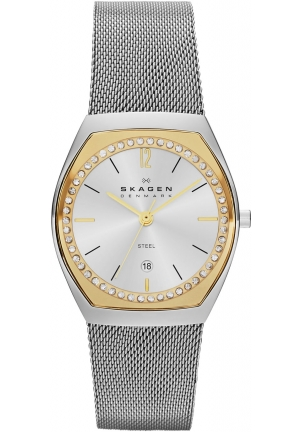 Skagen Watch, Women's Stainless Steel Mesh Bracelet 28mm