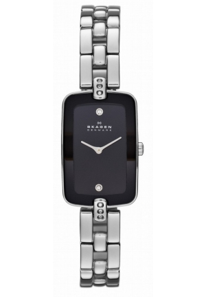 New Skagen SKW2071 Klassik Two Hand Stainless Steel Black Dial Ladies Watch