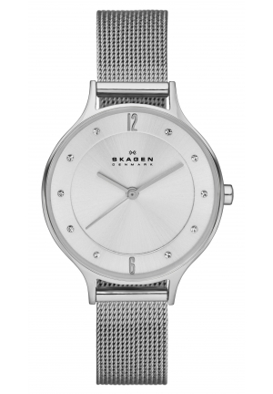 Skagen Women's  Anita Quartz 3 Hand Stainless Steel Silver Watch 30mm