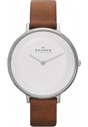 SKAGEN Ditte Women's Leather Watch 36.5mm