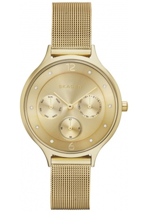 Skagen Women's  Anita Analog Display Analog Quartz Gold Watch