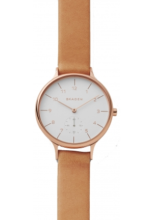 Skagen Anita Sub-Eye Leather Watch