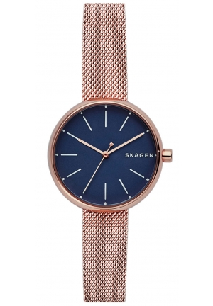 SKAGEN LADIES' ROSE GOLD TONE BRACELET WATCH