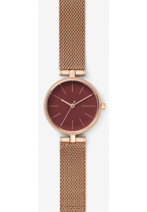 Skagen Signatur Steel-Mesh T-Bar Watch