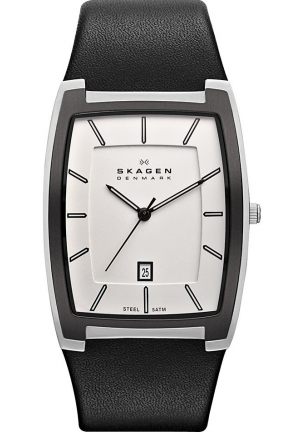 Skagen Men's Quartz Watch Classic with Leather Strap