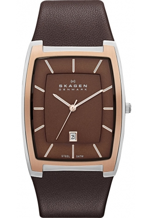 Skagen Classic Brown Leather Men's Watch Skw6004