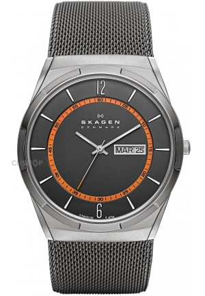Skagen Metal Case Black Metal Mineral Men's Watch 35mm