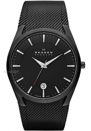 Skagen Aktiv Black Mesh Men's Titanium Watch