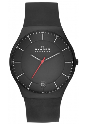 Balder Black Dial Black Silicone Strap Mens Watch