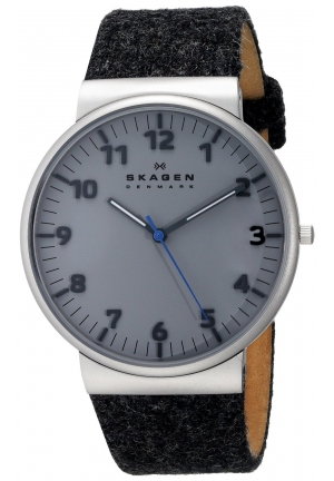 Skagen Men's Ancher Dark Gray Felt Strap Watch 40mm