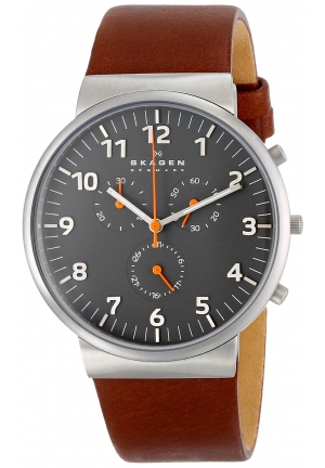 Men's Skagen Ancher Leather 42mm