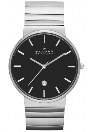 Skagen Men's Ancher Quartz 3 Hand Date Stainless Steel Silver Watch